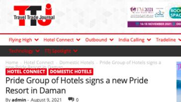 Pride daman Travel trade journal 9-8-21