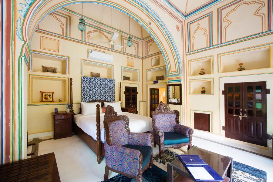 alt-text Heritage Room at Bara Bungalow Kalwar, Jaipur 1, Jaipur rooms, stay in Jaipur