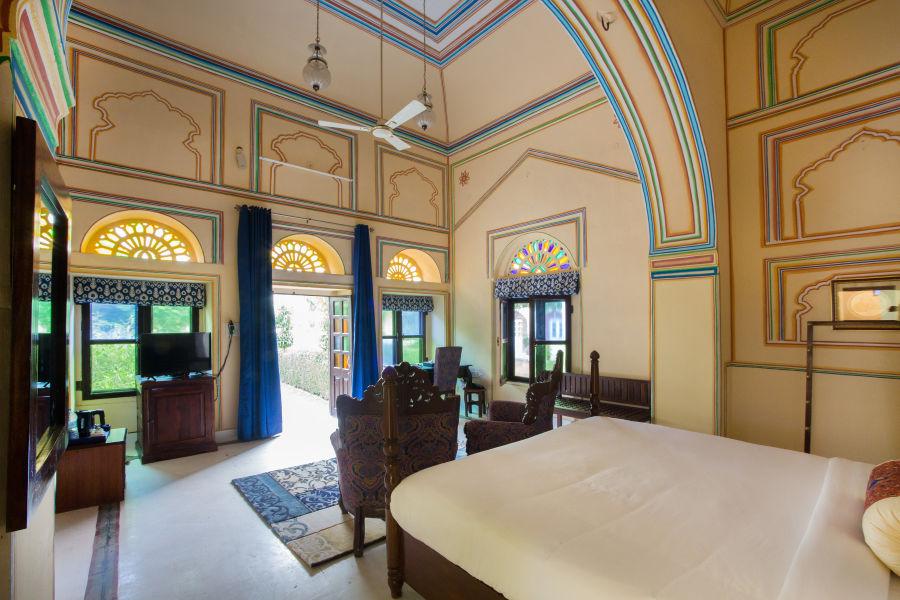 alt-text Heritage Room at Bara Bungalow Kalwar, Jaipur 2, Jaipur rooms, stay in Jaipur