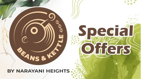 special offers at Beans n Kettle, best cafe in gandhinagar