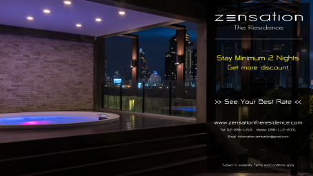 Min Stay Offer - Zensation The Residence