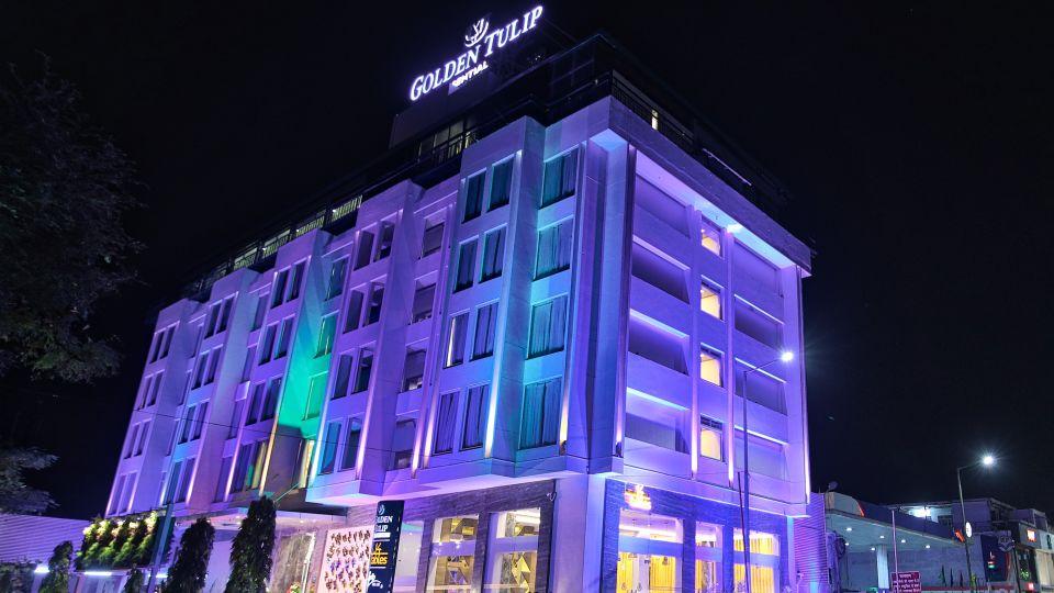 Facade of our hotel in Jaipur, Hotel on MI Road, Golden Tulip Essential, Jaipur