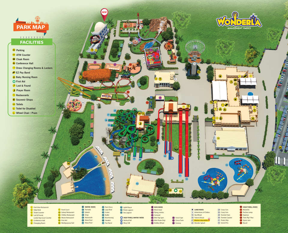 Wonderla Park Map Leaf Lt HYD Inside Jan 2018