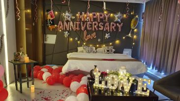 Anniversary Decoration for Hotel Room