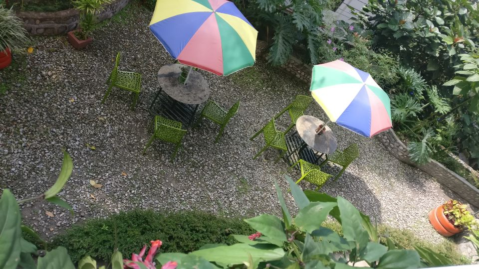 6. Scenic garden area