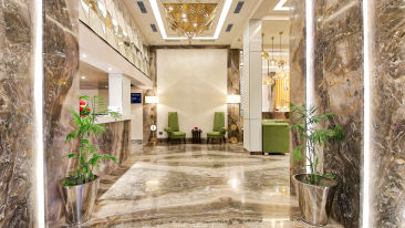 Lobby at our hotel in Jaipur, Golden Tulip Essential, Jaipur