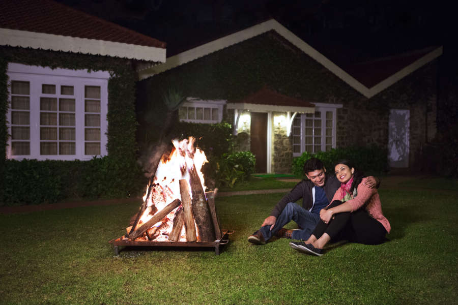 alt-text Bonfire activities at The Carlton Best 5 Star Hotel in Kodaikanal,  Hotels near Kodaikanal lake