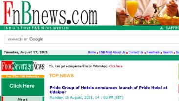FNB News Pride udaipur - 16-8-21