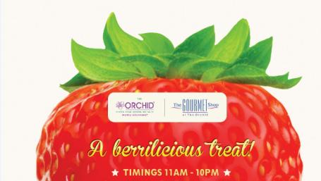 Strawberry Menu at The Orchid Hotel Mumbai Vile Parle 2019