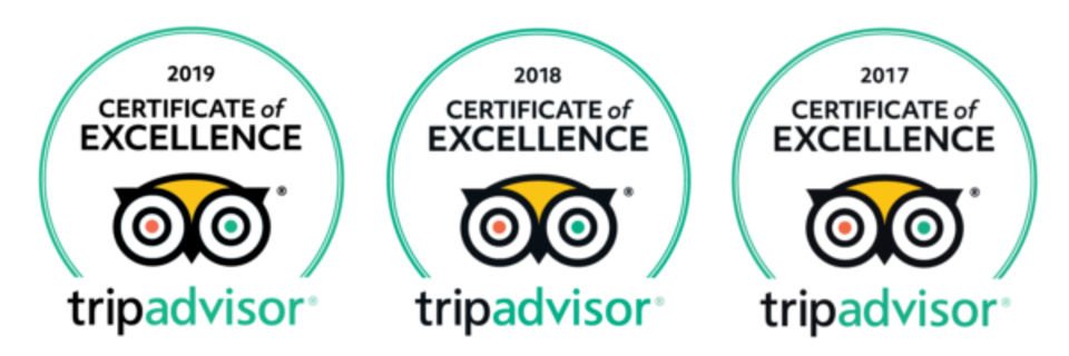 Tripadvisor Certificate of Excellence 3 Years