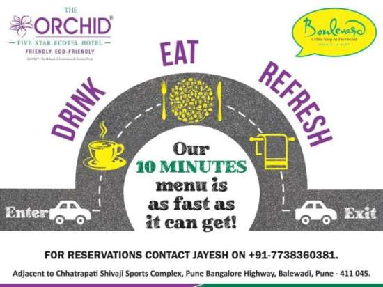 Drink-Eat-Refresh The Orchid Hotel Pune