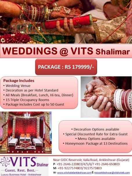 VITS Shalimar Hotel, Ankleshwar Ankleshwar Wedding VITS Shalimar