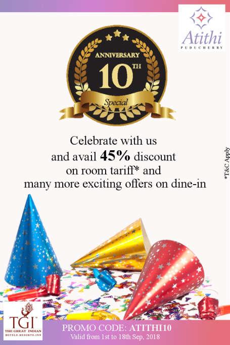 Hotel Atithi Pondicherry promotion