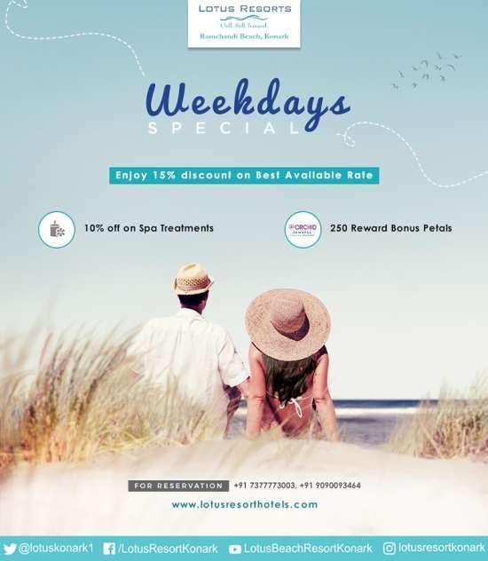 weekday offer-Lotus Eco Beach Resort Konark 1