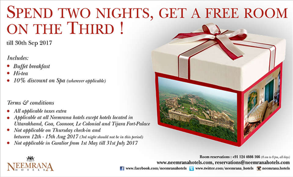 Neemrana Hotels  Package Neemrana Hotels