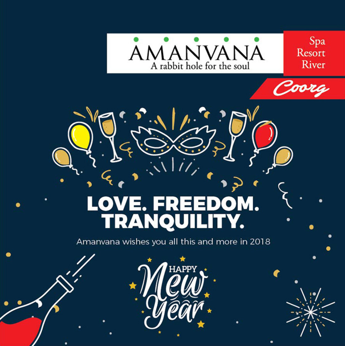 New Year s , Amanvana Resort Spa, Activities in Coorg Hotels
