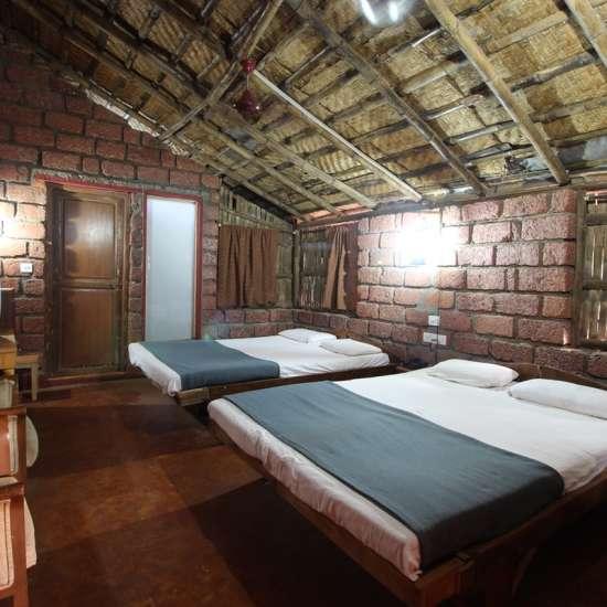 Bamboo Cottage, Lotus Beach Resort, Murud Beach-Dapoli, Ratnagiri