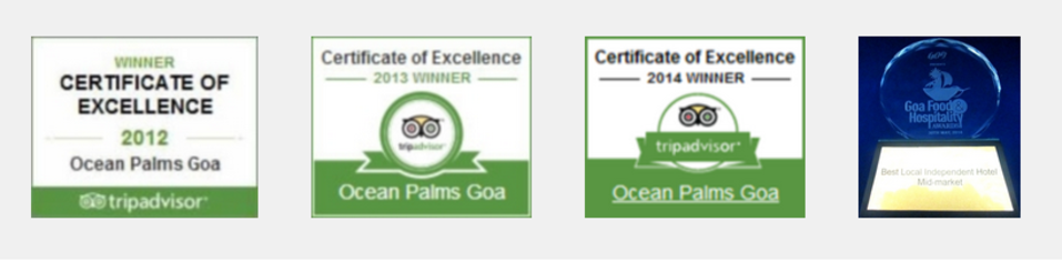 Ocean Palms Goa Ocean Palms Awards