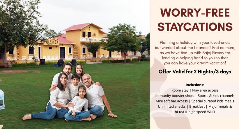 Worry free staycations landing page