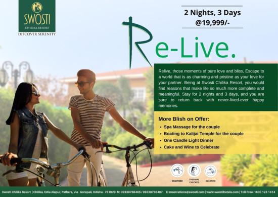 Swosti Chilika Resort Re-live Package
