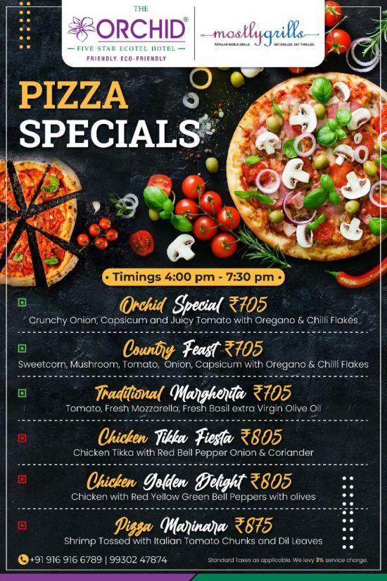 Pizza Specials at Orchid Hotel Mumbai Vile Parle