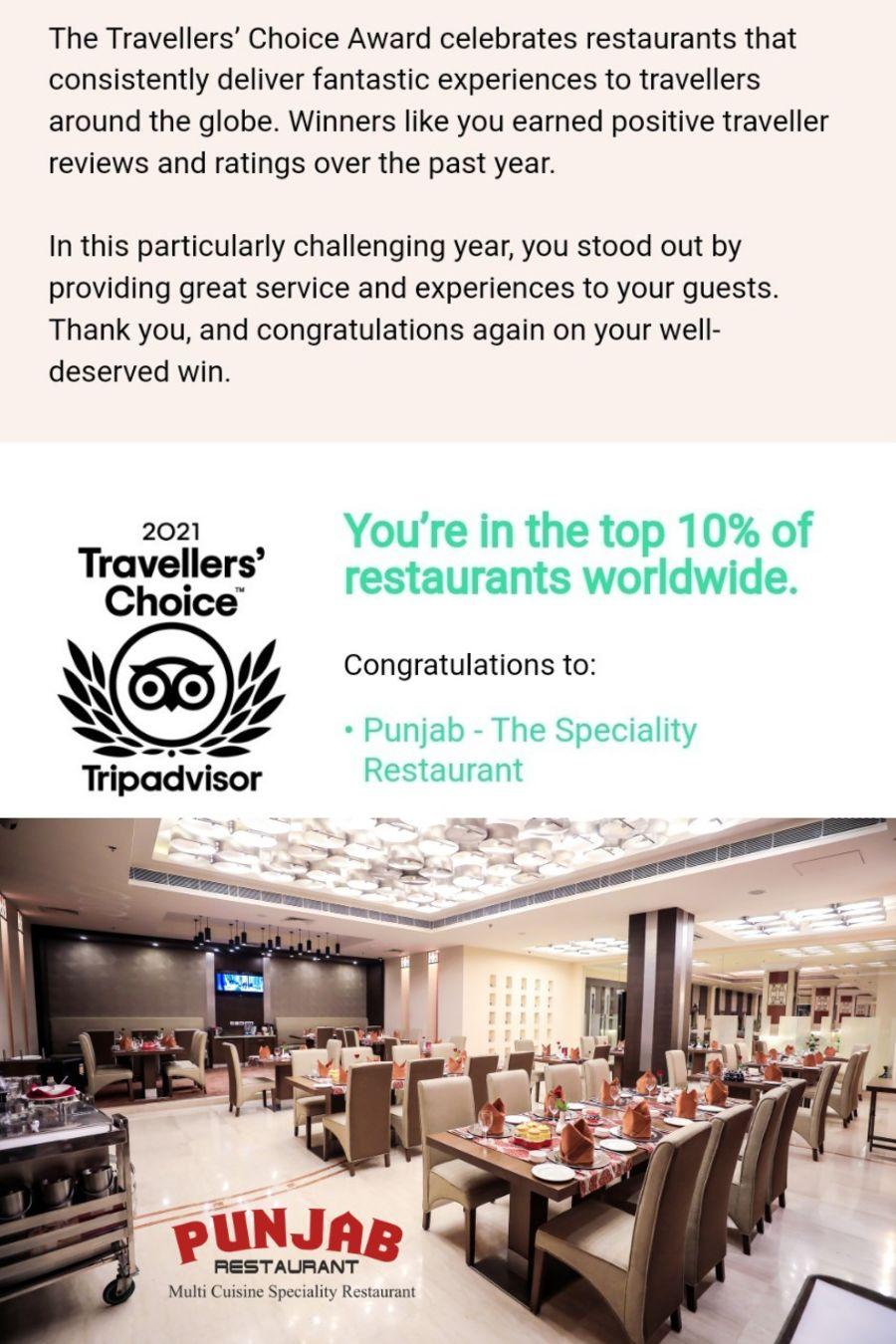 Traveler choice award Punjab 2