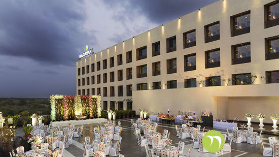 terrace venue at Narayani Heights hotels, best banquets in ahmedabad