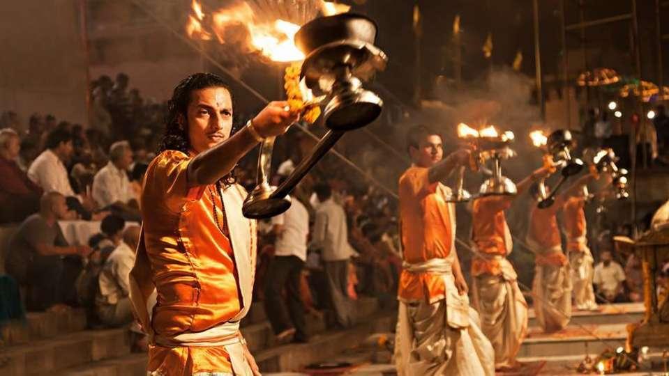 Ganga Aarti at Aloha On the Ganges Rishikesh Resort and Hotel Rishikesh