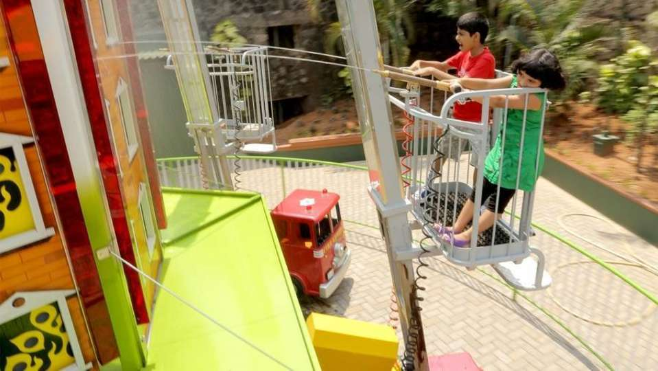 Kids Rides - Fire Brigade at  Wonderla Kochi Amusement Park