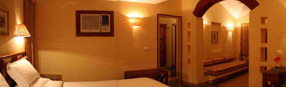 Tiger Camp Resort, Corbett Uttarakhand Deluxe Cottages Interior Tiger Camp Resort Corbett