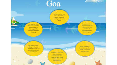 Top 6 Things to do in Goa - Infografic