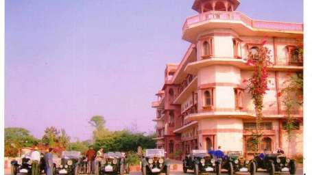 Vintage Car Rally at Umaid Lake Palace Hotel Kalakho Dausa Rajasthan