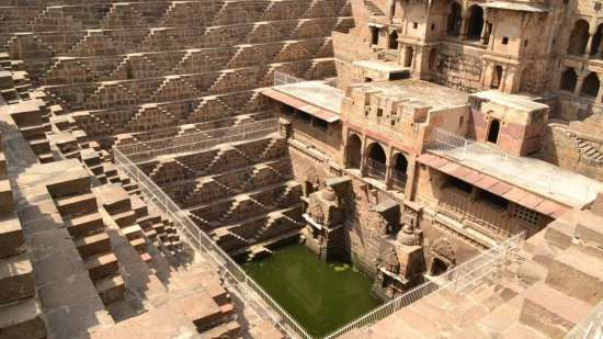 Abhaneri Stepwell - Umaid Lake Palace Hotel Kalakho Dausa Rajasthan