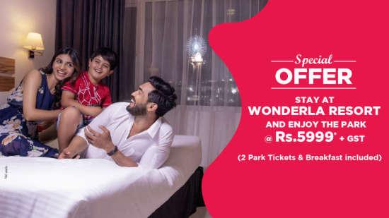 Wonderla Resort Room web banner ag69yu