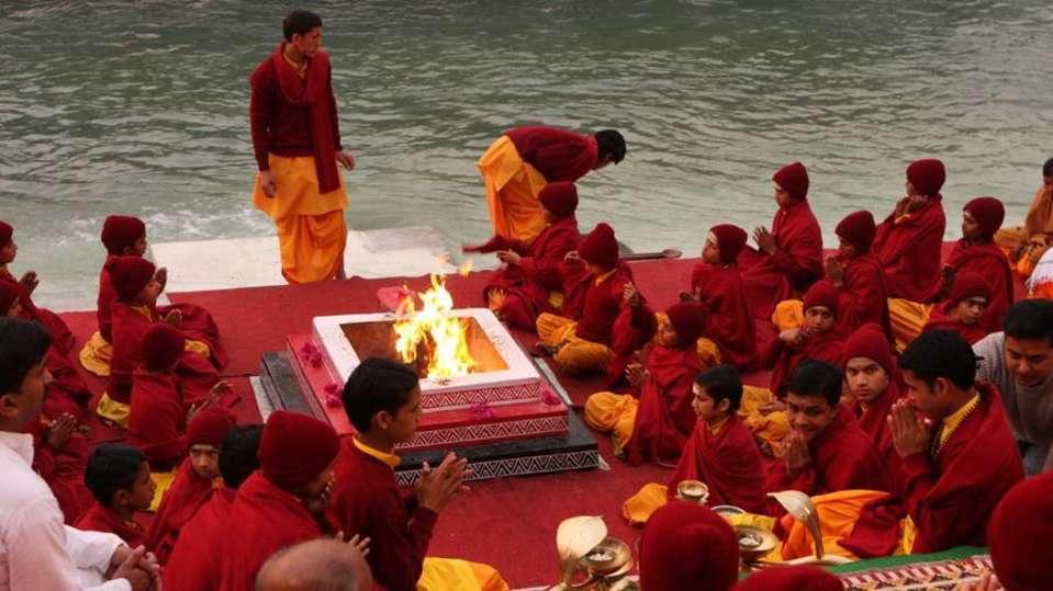 Sandhya Bhajan at Aloha On the Ganges Rishikesh Resort and Hotel Rishikesh