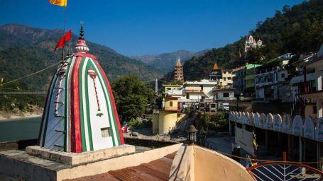 View of Temple near Aloha On the Ganges Rishikesh Resort and Hotel Rishikesh