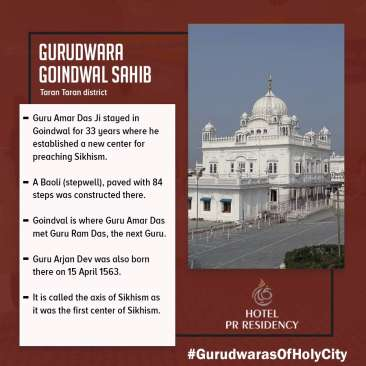 Gurudwara -Amritsar-Sight Seeing -Hotel PR Residency