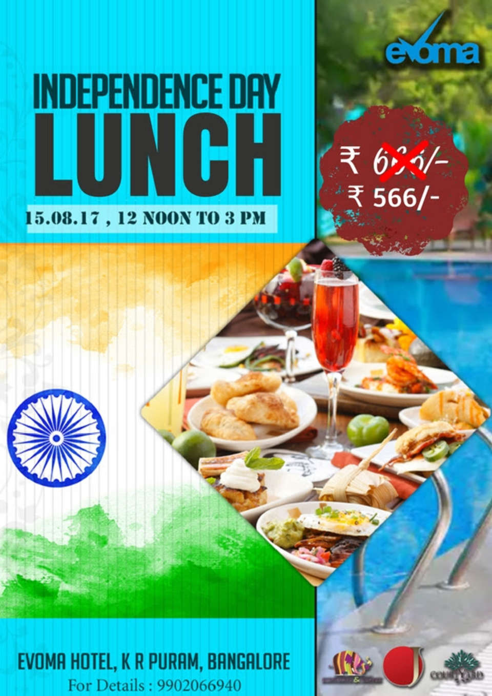 Evoma - Business Hotel, K R Puram, Bangalore Bangalore independence-day-lunch-evoma