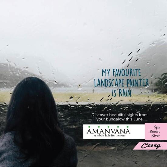 Amanvana Spa resort Coorg-Monsoon Rains