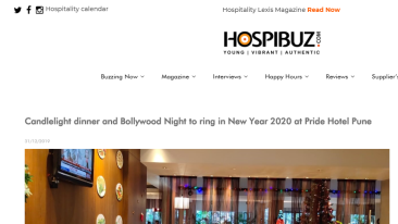 New Year 2020 at Pride Hotel Pune - HospiBuz 31-12-2019