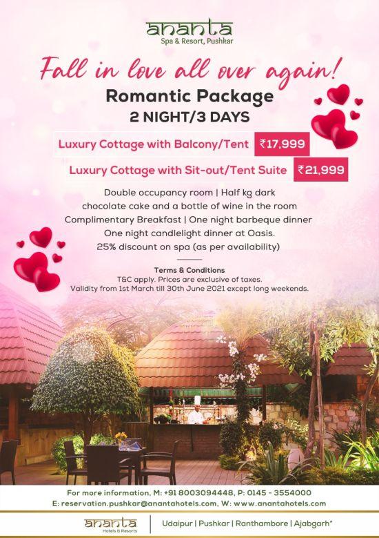 Pushkar Romantic pkg 02 Night