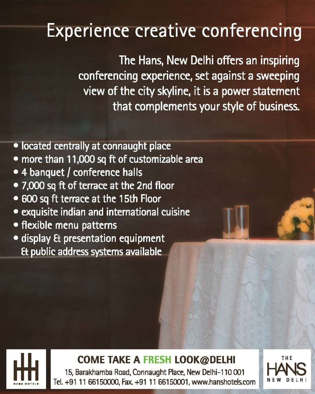 Hans Hotels  Conference Promo