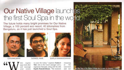 Our Native Village Bengaluru in the news press our native village bangalore eco resort 10