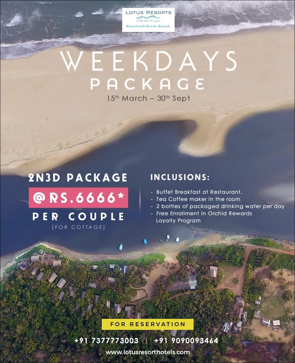 Weekdays Package  Lotus Eco Resort Konark Resort in Konark near Sun Temple