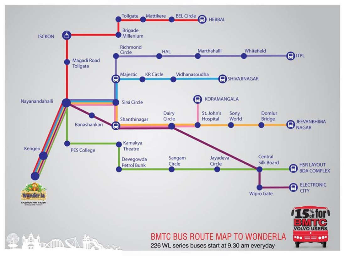 Wonderla Amusement Parks & Resort  wonderla volvo bus route map