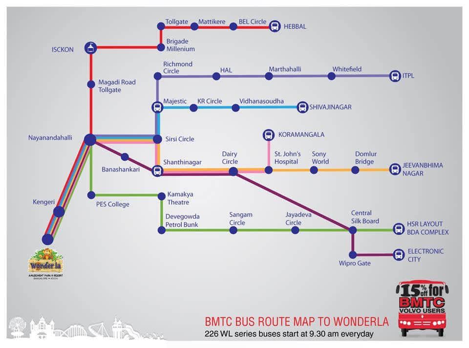 Wonderla Amusement Parks & Resort  wonderla volvo bus route map