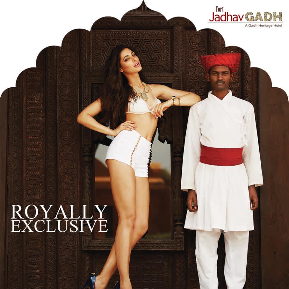 Nargis Fakhri at Fort Jadhavgadh Heritage Resort Hotel Pune