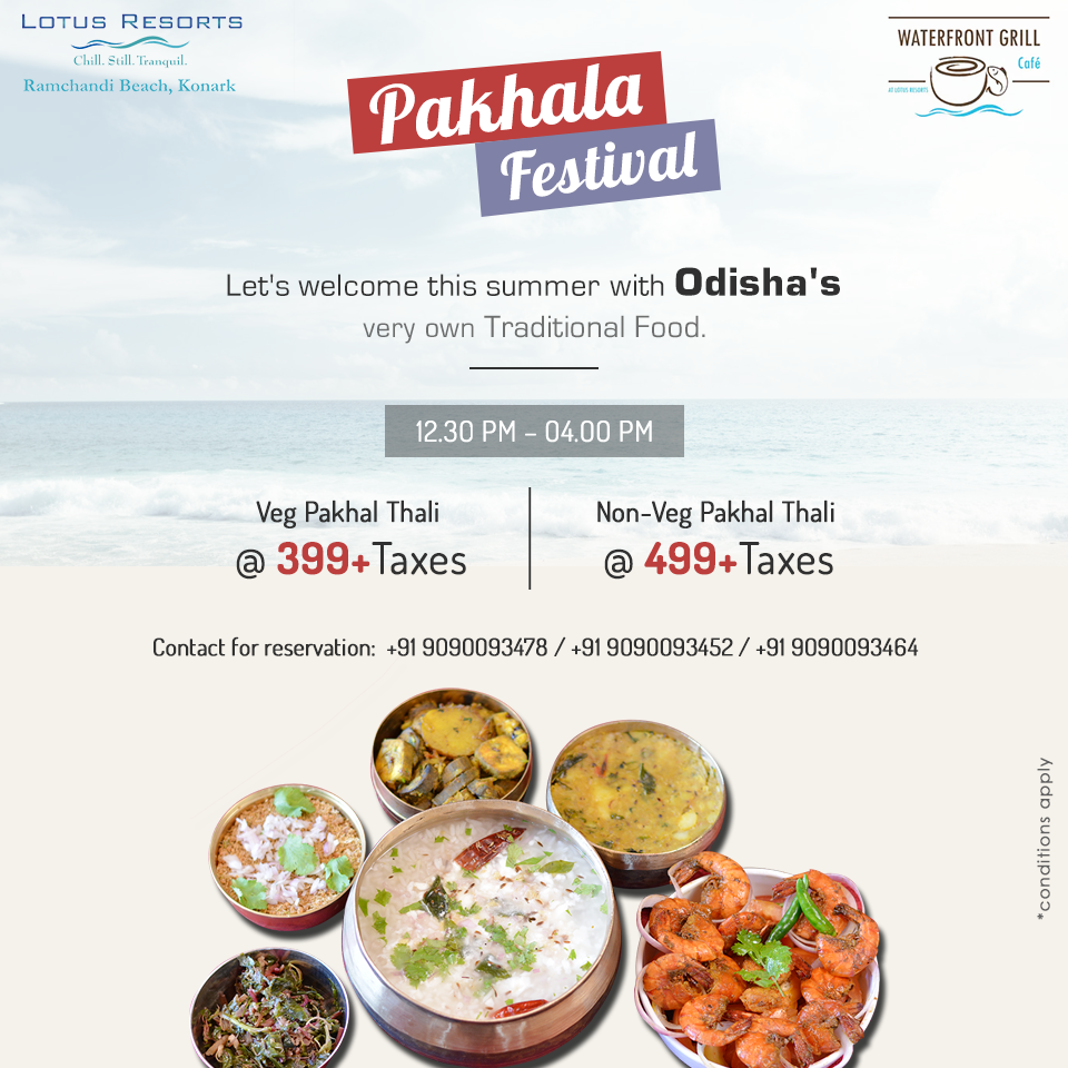 pakhala-Festival Weekdays Package  Lotus Eco Resort Konark Resort in Konark near Sun Temple