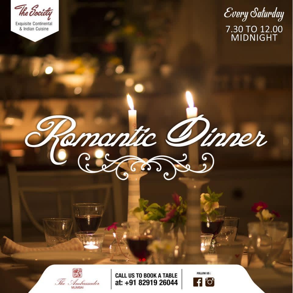 Romantic Dinner offers on restaurants in Mumbai The Ambassador Mumbai