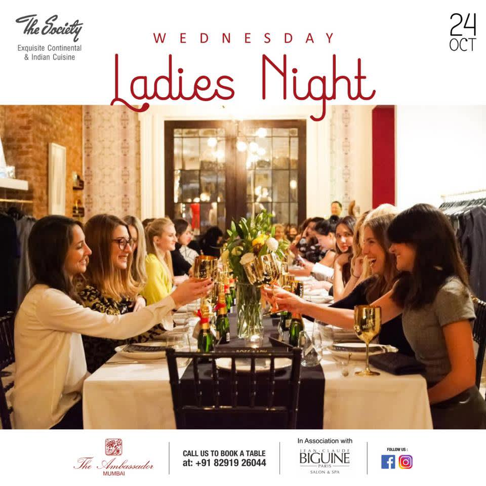 Wednesday Ladies Night hotel offers in Mumbai restaurant in Mumbai The Ambassador mumbai